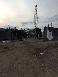 Campement à la frontière (octobre 2016)